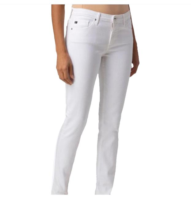 Item - White Light Wash Prima Ankle Pintucked Capri/Cropped Jeans Size 8 (M, 29, 30)