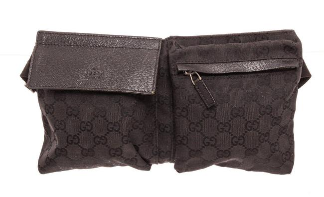 Item - Waist Black Gg Canvas Cross Body Bag