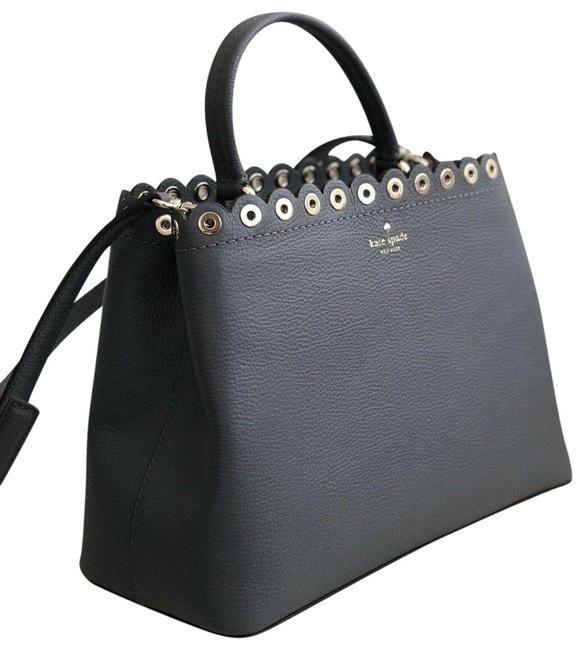 Item - Janell Scalloped Pebbled-leather Grey Leather Tote