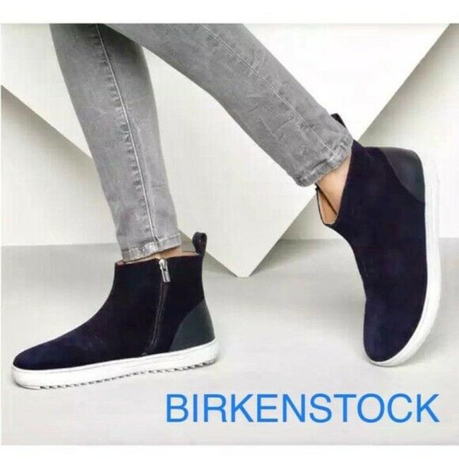 Item - Blue Myra Flat Ankle Navy Suede Boots/Booties Size US 6.5 Regular (M, B)