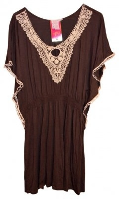 Preload https://img-static.tradesy.com/item/28969/candie-s-brown-boho-flutter-sleeved-knee-length-short-casual-dress-size-4-s-0-0-650-650.jpg