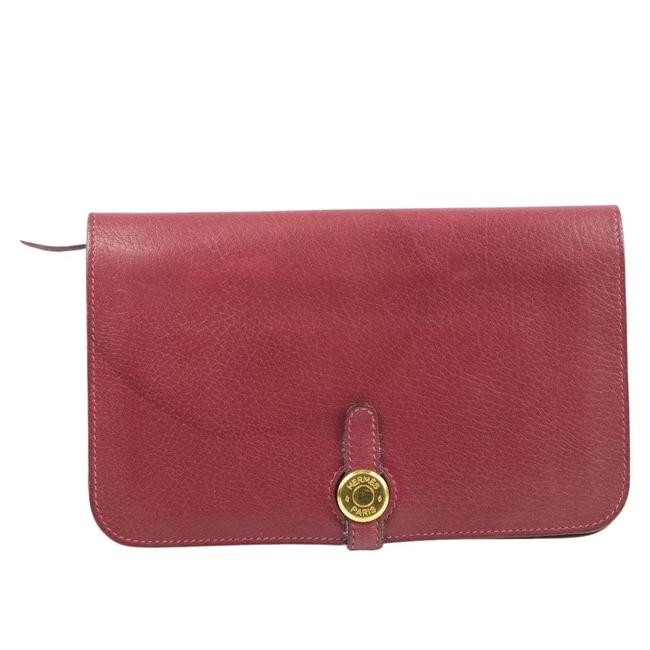 Item - Red Color Dogon Calf Leather Ladies Bi-fold Wallet