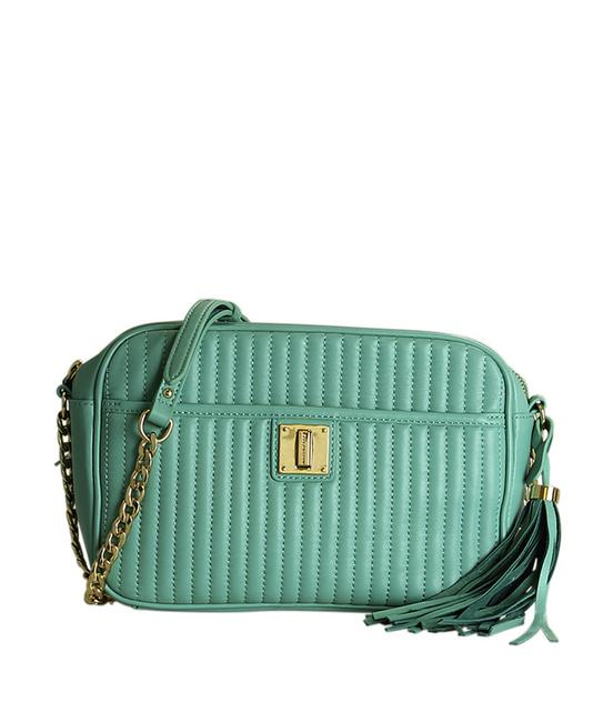 Item - Camera Quilted (196968) Blue Cowhide Leather Cross Body Bag