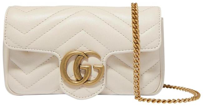 Item - Marmont New Fanny Pack Purse Off White Leather Cross Body Bag