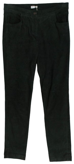 Item - Green Women's Suede Leather Casual 42/6 Activewear Bottoms Size 6 (S, 28)