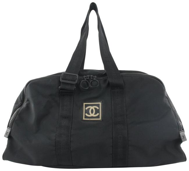Item - Duffle Cc Logo Sports Boston 879cas412 Black Canvas Weekend/Travel Bag