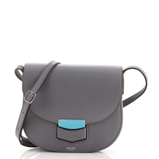 Item - Trotteur Calfskin Small Gray Leather Cross Body Bag