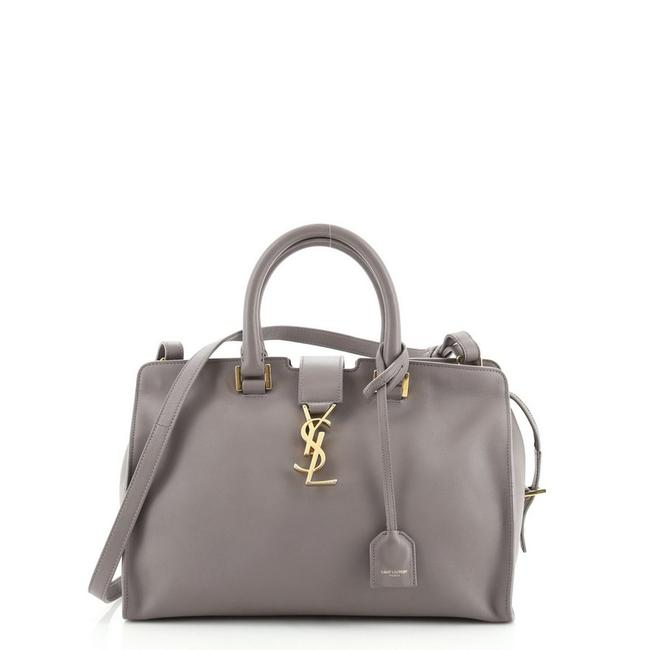 Item - Monogram Cabas Small Gray Leather Satchel