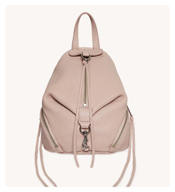Item - New Convertible Mini Julian Ballet (Pink) Pebbled Leather Backpack
