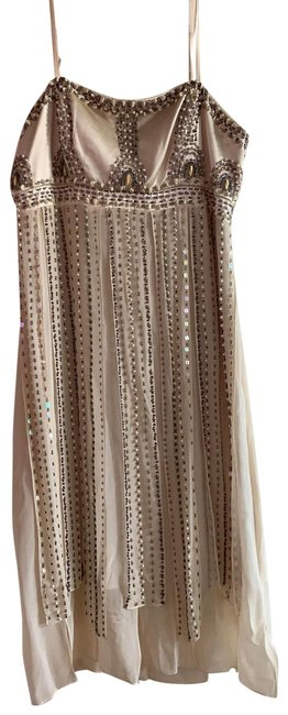 Item - Taupe Short Night Out Dress Size 4 (S)