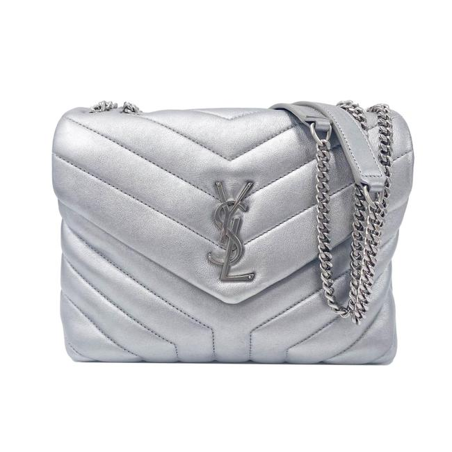 Item - Monogram Loulou Calfskin Y Quilted Monogram Small Chain Satchel Silver Leather Shoulder Bag