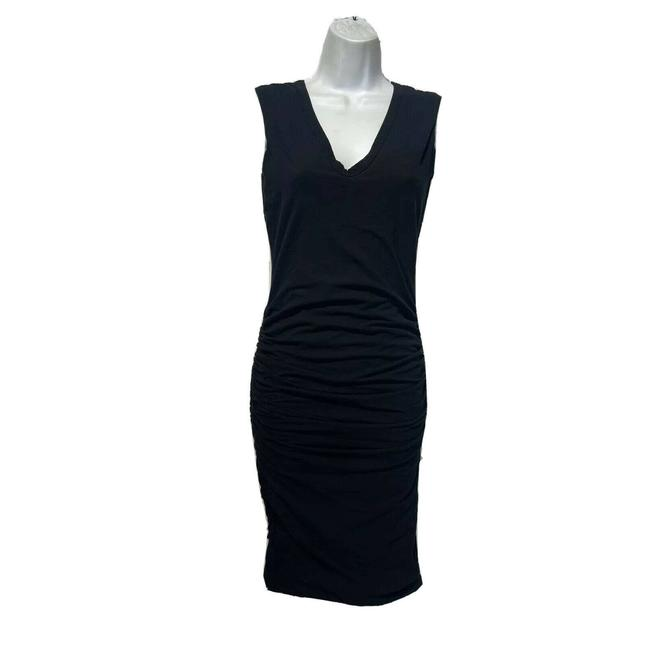 Item - Black Sleeveless Ruched Casual Maxi Dress Size 2 (XS)