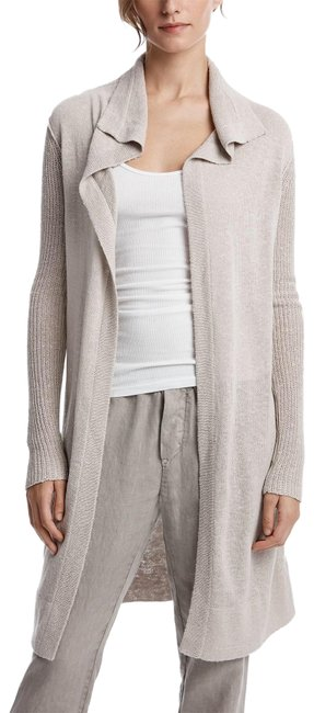Item - Taupe Gray Open Silk Linen Whf2857 Cardigan Size 0 (XS)