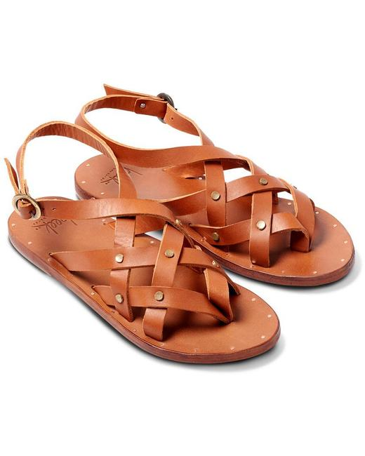 Item - Tan Merlin Strappy Studded Thong Leather (Ts3) Sandals Size US 10 Regular (M, B)