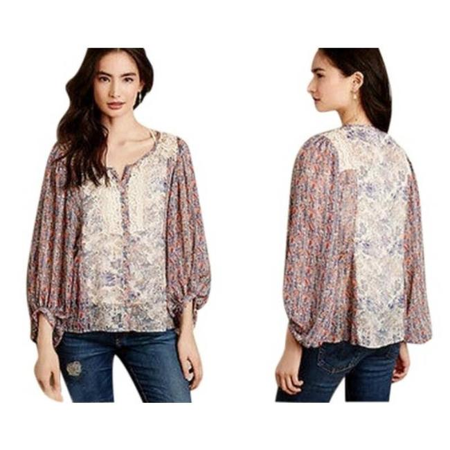 Item - Red Anthropologie Chinoiserie Blouse Size 12 (L)