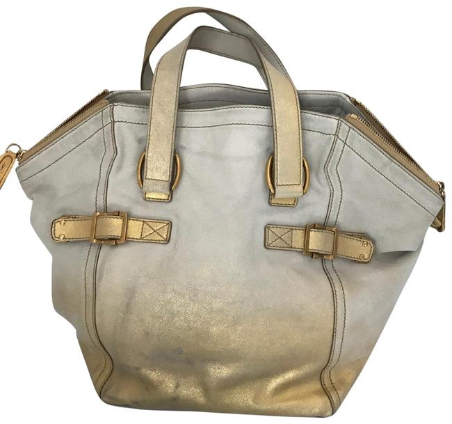 Item - Downtown Gold Leather Tote