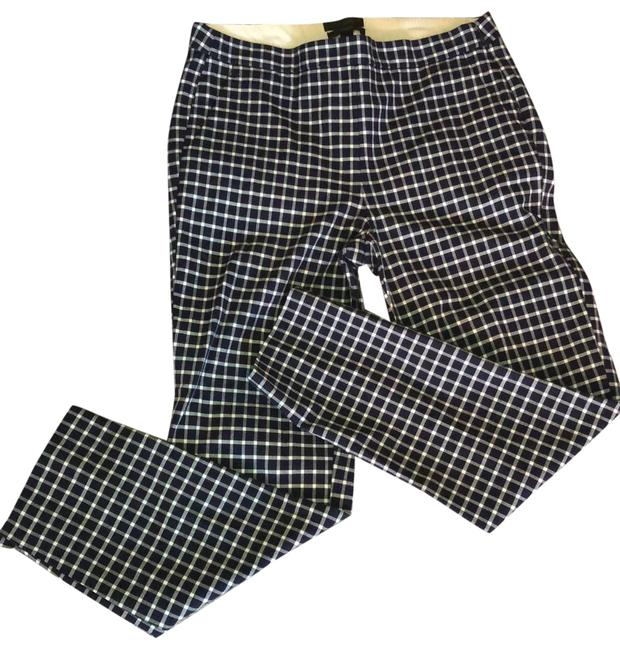 Item - Navy and White Martie Gingham Ankle Pants Size 4 (S, 27)