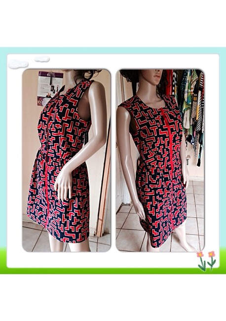 Fashion Star short dress Black Red on Tradesy