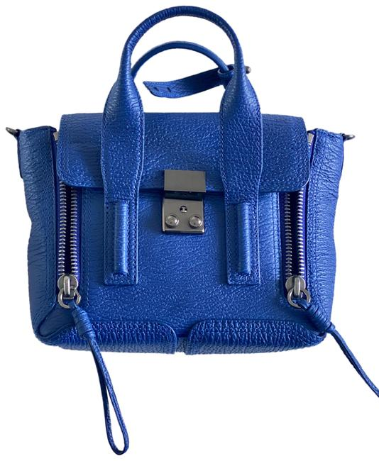 Item - Pashli Mini Satchel Blue Leather Shoulder Bag