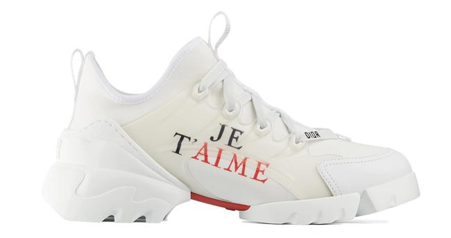 Item - White Christian Je T'aime D-connect Low Top Chunky Sneakers Size US 6 Regular (M, B)