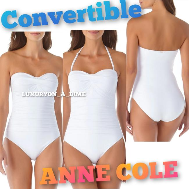 Item - Live In Color White Twist Front Convertible One-piece Bathing Suit Size 12 (L)