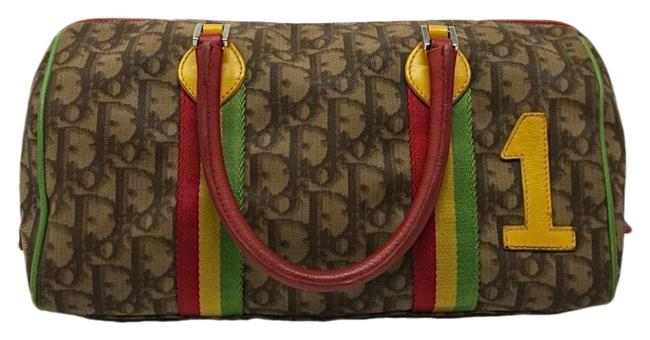 Item - Rasta Monogram Trotter Brown Pvc Baguette