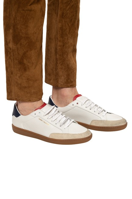 Item - White Multi Leather Low Top Sneakers Size EU 36 (Approx. US 6) Regular (M, B)