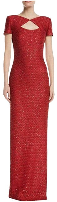 Item - Red Evening Sequin Column Gown Long Formal Dress Size 4 (S)