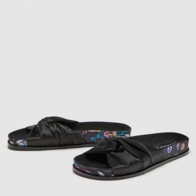Item - Black Printed Fabric Slides Sandals Size US 7.5 Regular (M, B)