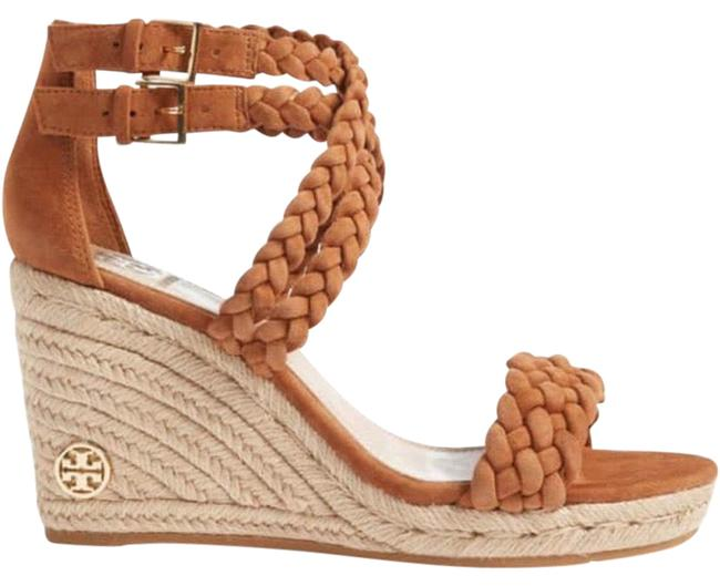Item - Brown Natural Soho Bailey Ankle-strap Espadrille Lux Suede Wedges Size US 7.5 Regular (M, B)