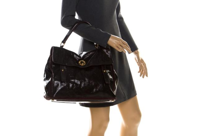 Item - Muse Two And Suede Lamb Skin Burgundy Patent Leather Satchel