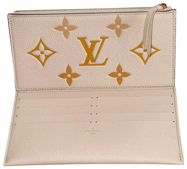 Item - Felicie Inserts By The Pool Monogram Saffron Cream Leather Clutch