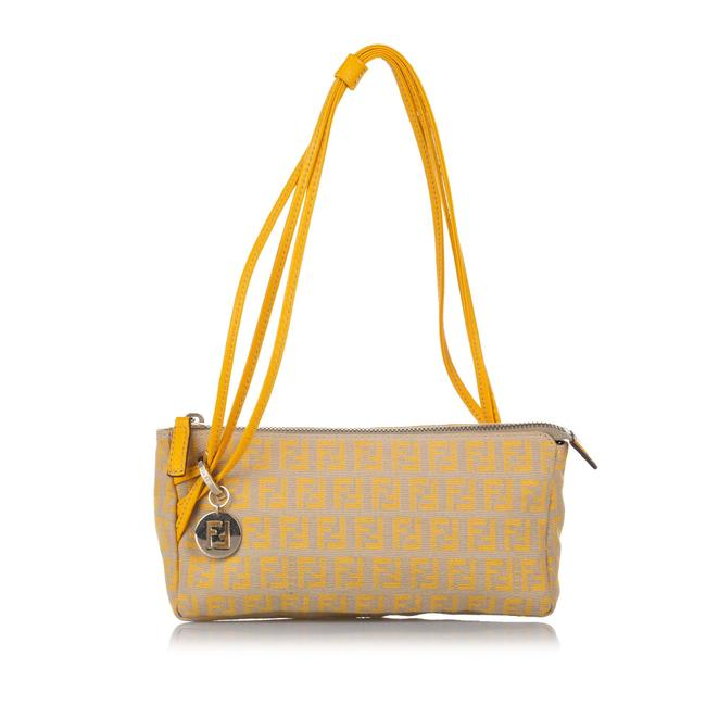 Item - Zucchino Canvas Brown Leather Baguette