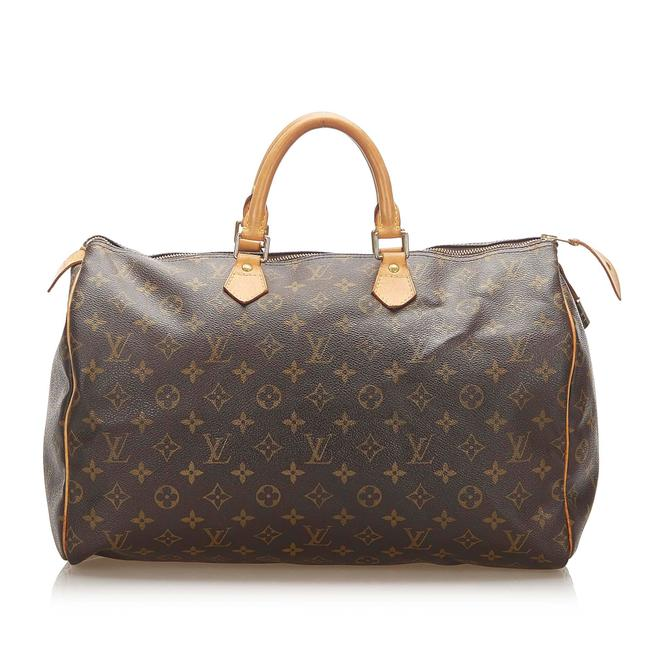 Item - Speedy Monogram 40 Brown Leather Shoulder Bag