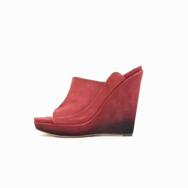 Item - Red Ombre Wedges Size US 7 Regular (M, B)