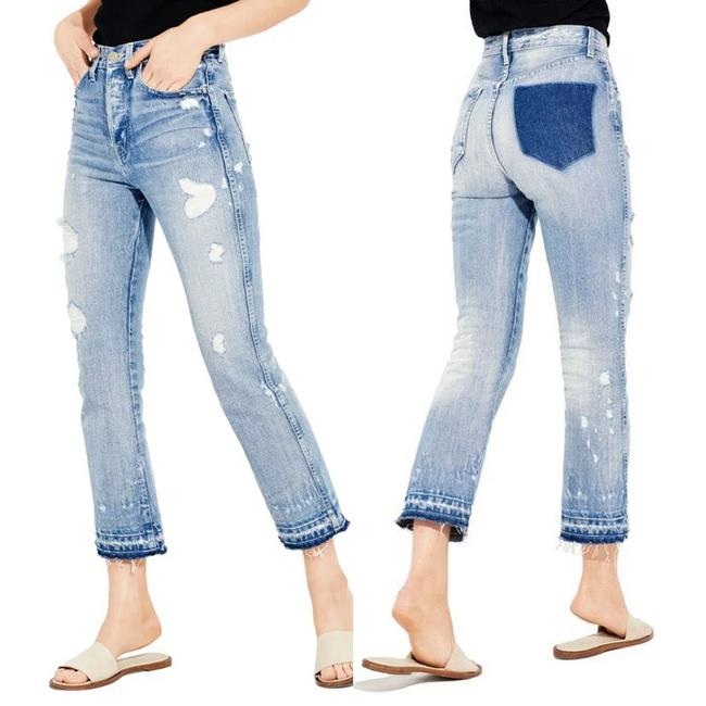 Item - Blue Light Wash Styx Distressed High Capri/Cropped Jeans Size 4 (S, 27)