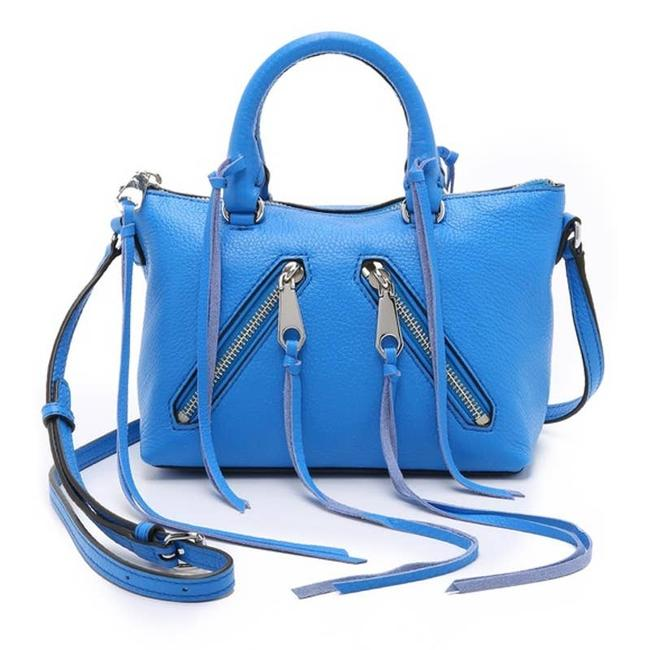 Item - Micro Moto Satchel In Grecian Blue Leather Cross Body Bag
