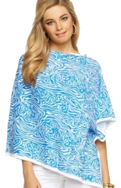 Item - Blue White Solar Harp Night Swimming Scarf/Wrap