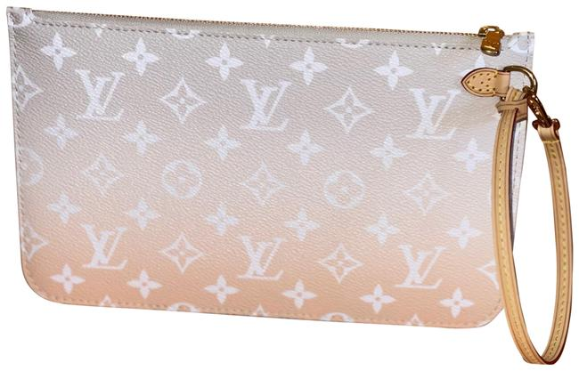 Item - Neverfull Pouch/Wristlet By The Pool Monogram Brum Gray Coated Canvas Wristlet