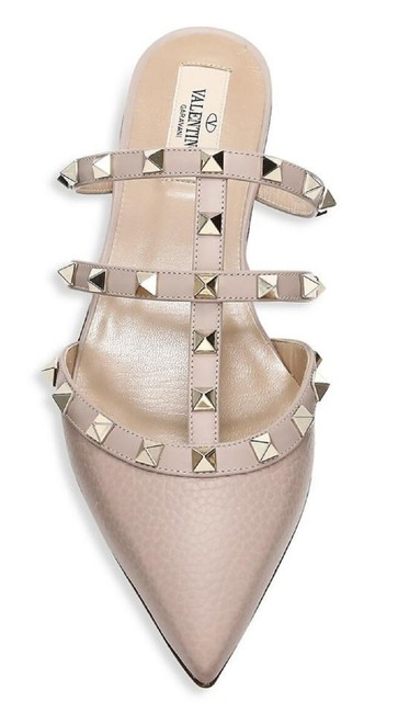 Item - Nude Garavani Rockstud Poudre Leather Cage Slippers Sandal Mules/Slides Size EU 39 (Approx. US 9) Regular (M, B)