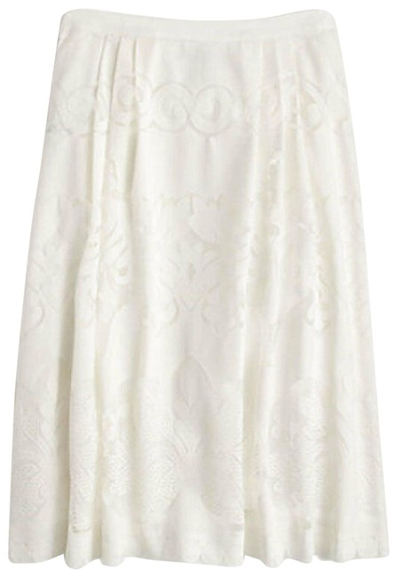 Item - White Womens In Ornate Lace Skirt Size 6 (S, 28)