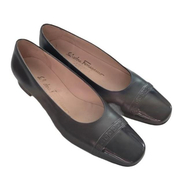 "Item - Black Cap Toe Pump;; 1"" Heel. Pumps Size US 7 Regular (M, B)"