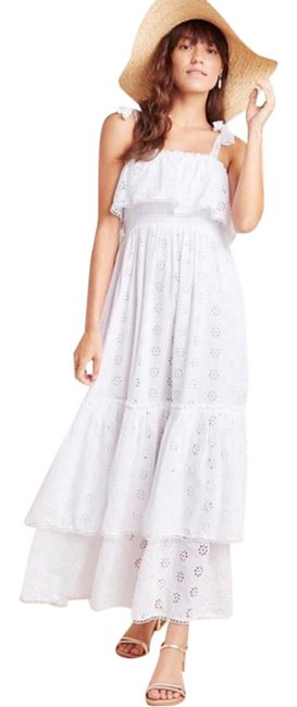 Item - White Steele Linnea Tiered Eyelet Long Casual Maxi Dress Size 0 (XS)