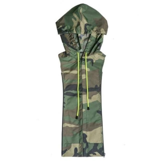 Item - Green Brown Camo Hooded Dickey
