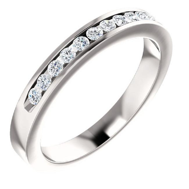 Item - 11-stone Cubic Zirconia Band In 14k White Ring