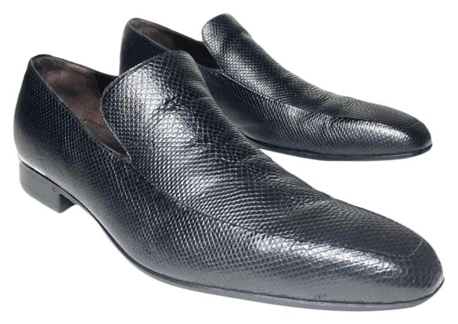 Item - Black Men Lizards Flats Size US 11 Regular (M, B)