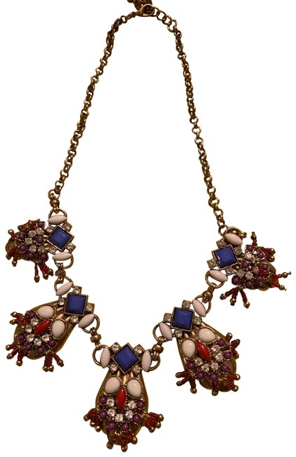 Item - Gold/Red Statement Necklace
