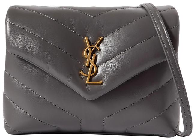 Item - Monogram Loulou Toy Quilted Dark Gray Leather Shoulder Bag