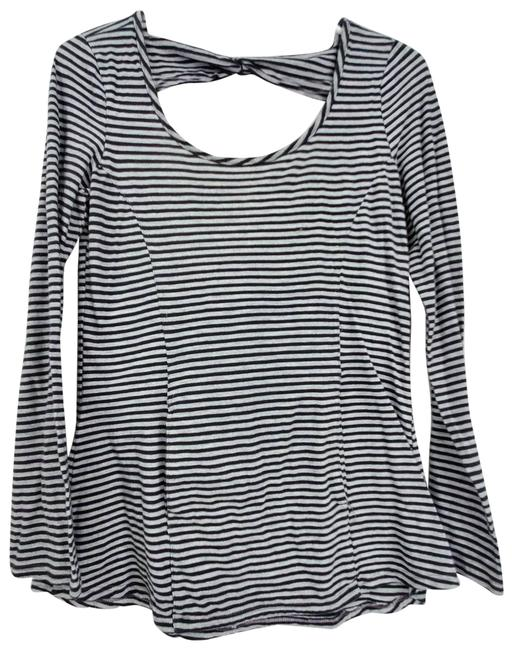 Item - Black Stripe Athleisure Shirt Activewear Top Size 4 (S)