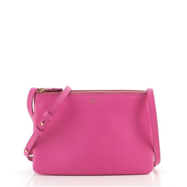Item - Trio Small Pink Leather Cross Body Bag
